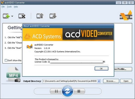 AcdVIDEO Converter 1.0.14