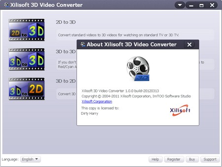 Xilisoft 3D Video Converter 1.0.0.20120313