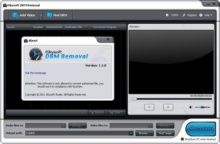 Skysoft DRM Removal - программа для снятия DRM защиты с защищенных
