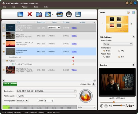ImTOO Video to DVD Converter 7.1.3.20121219 .
