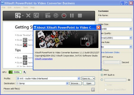Xilisoft PowerPoint To Video Converter Business 1.1.1.20121227