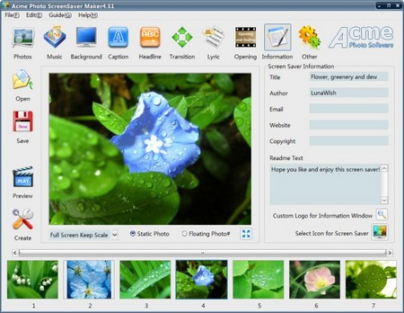 Acme Photo ScreenSaver Maker 4.51